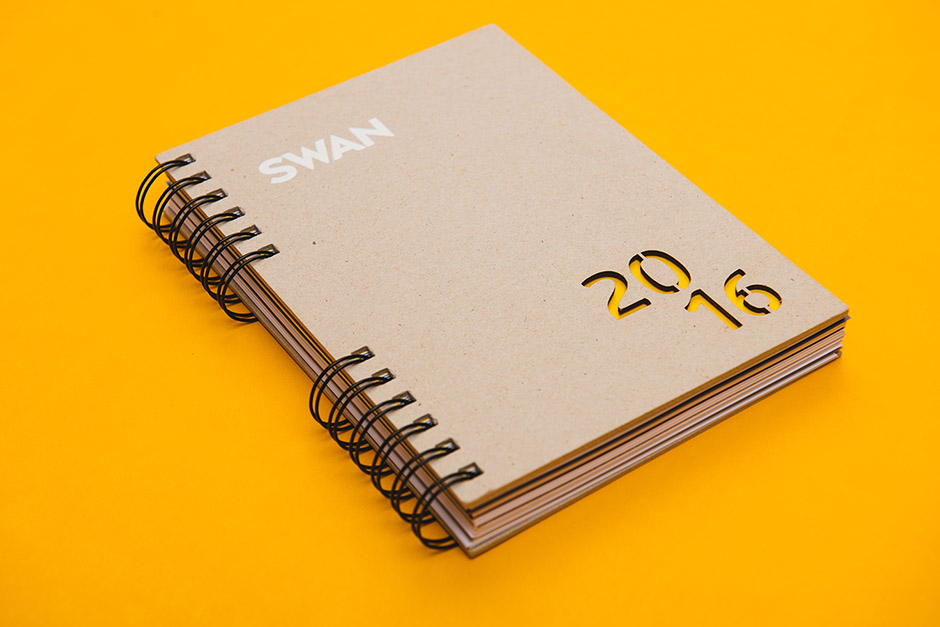 Diary Swan Life, printed by Précigraph