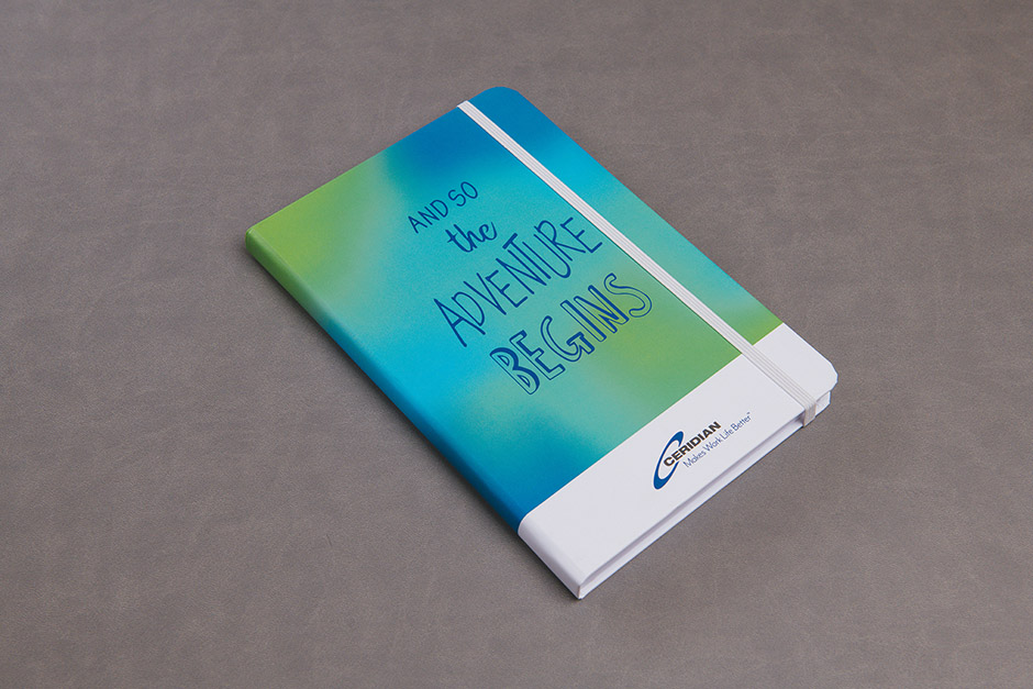 Notebook Ceridian, printed by Précigraph