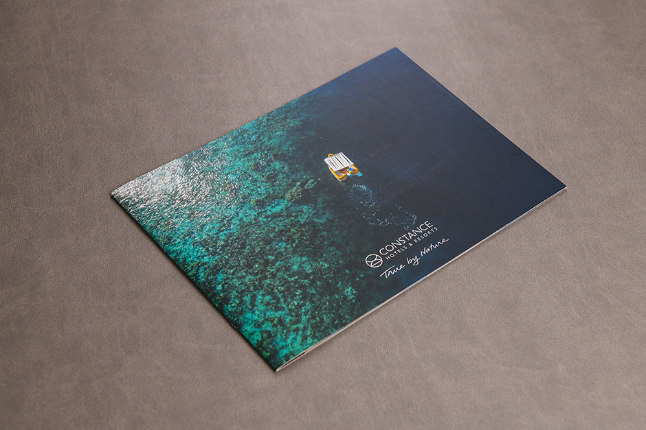 Time by Nature brochure, Constance Hotels & Resorts, printed by Précigraph