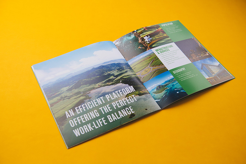 Ferney LIfe Science Hub brochure, printed by Précigraph