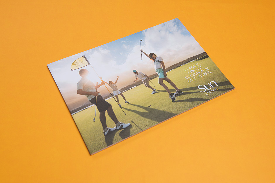 Sun Resorts Golf brochure, printed by Précigraph