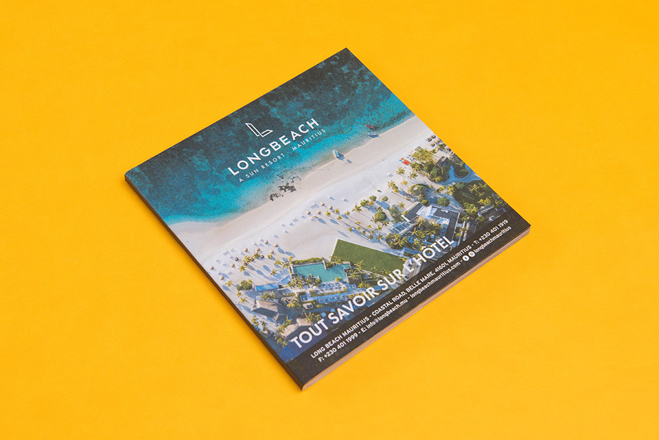 Long Beach Brochure, Sun Resorts, Mauritius printed by Précigraph