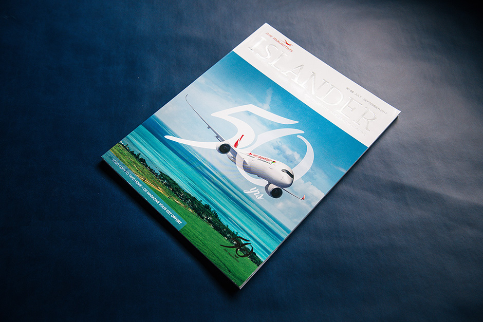 Islander magazine, Air Mauritius, printed by Précigraph