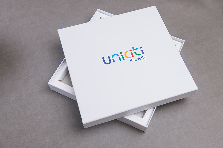 Uniciti Medine Educational packaging, printed by Précigraph