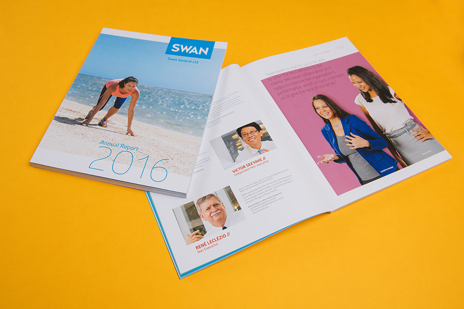 Swan Life, Swan General Annual Report printed by Précigraph