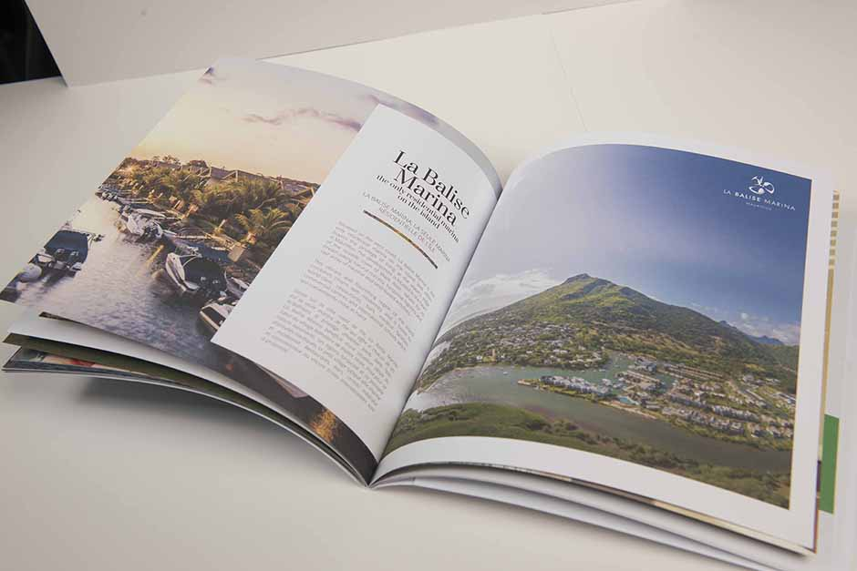 #liveinMauritius brochure, ENL Properties, printed by Précigraph